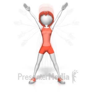 ID# 20741 - Woman Jumping Jacks - Presentation Clipart