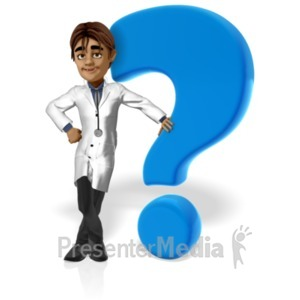 ID# 20750 - Doctor Simon Question Mark - Presentation Clipart