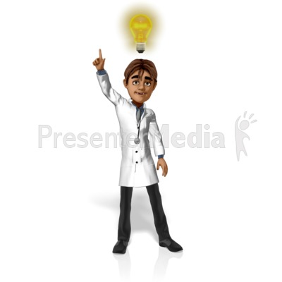 Doctor Simon Light Bulb PowerPoint Clip Art