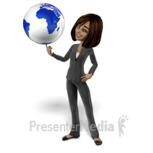 ID# 20783 - Talia Spinning World on Finger - Presentation Clipart