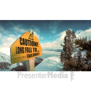 ID# 20793 - Cliff Warning Sign - Presentation Clipart