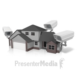ID# 20855 - Security House Surveillance - Presentation Clipart