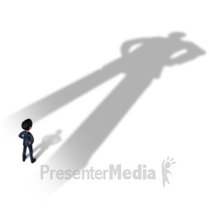 ID# 20869 - Businessman Overshadowed - Presentation Clipart