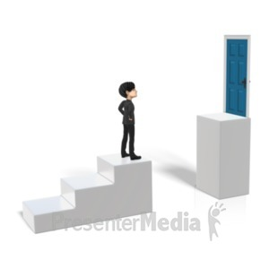 ID# 20870 - Steps Goal Obstacle - Presentation Clipart