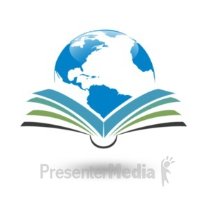ID# 20877 - Reading Global Planet - Presentation Clipart