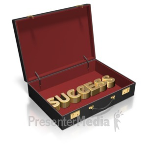 ID# 20882 - Briefcase Text Custom - Presentation Clipart