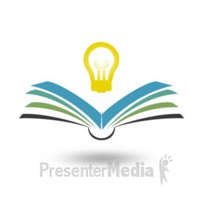 ID# 20886 - Reading Bright Idea - Presentation Clipart