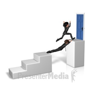 ID# 20891 - Goal Overcome Obstacle - Presentation Clipart