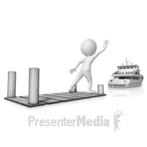 ID# 20920 - Missed The Boat - Presentation Clipart