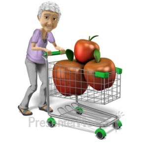 ID# 20927 - Bernice Healthy Shopping - Presentation Clipart