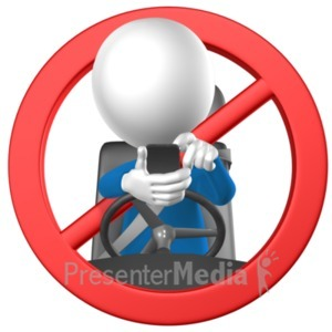 ID# 20931 - No Texting While Driving - Presentation Clipart