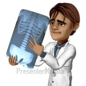 ID# 20941 - Simon Looking At Xray - Presentation Clipart