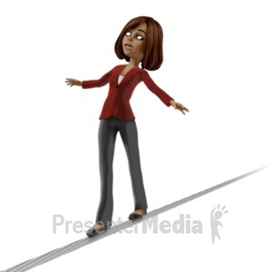 ID# 20947 - Talia On Tight Rope - Presentation Clipart