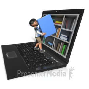 ID# 20957 - James Reaching For Book - Presentation Clipart