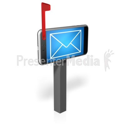 Cell Phone Mailbox PowerPoint Clip Art