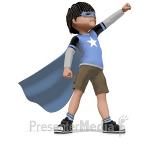 ID# 20984 - Boy Super Hero - Presentation Clipart