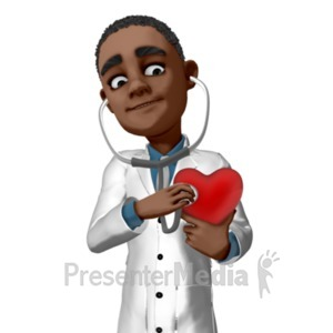 ID# 20987 - Ethan Checking Heart - Presentation Clipart