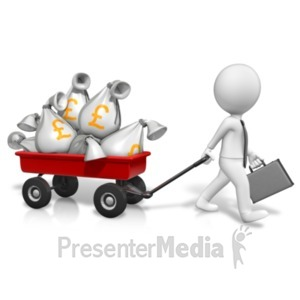 ID# 21074 - Wagon Full Of Pounds - Presentation Clipart
