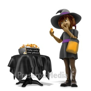 ID# 21083 - Sally Witch Obey Halloween Rules - Presentation Clipart