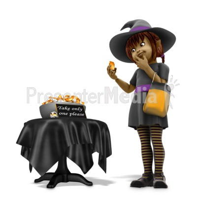 Sally Witch Obey Halloween Rules PowerPoint Clip Art
