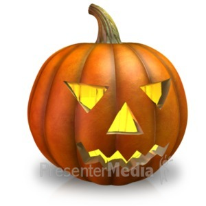 ID# 21084 - Simple Pumpkin Light - Presentation Clipart