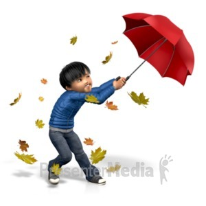 ID# 21133 - James Windy Umbrella - Presentation Clipart
