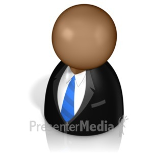 ID# 21237 - Businessman Pawn - Presentation Clipart