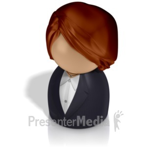ID# 21238 - Businesswoman Pawn - Presentation Clipart