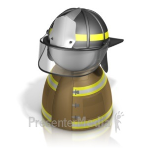 ID# 21243 - Firefighter Pawn - Presentation Clipart