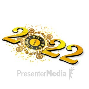 ID# 21266 - New Years Elegant Clock - Presentation Clipart