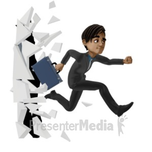 ID# 21397 - Break Through Biz - Presentation Clipart