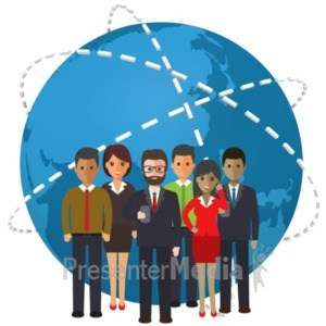 ID# 21434 - World People Connection - Presentation Clipart
