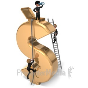 ID# 21454 - Money Lookout Success - Presentation Clipart