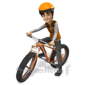 ID# 21515 - Grant Fat Bike Cyclist - Presentation Clipart
