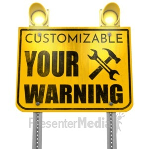 ID# 21545 - Flashing Lights Sign - Presentation Clipart