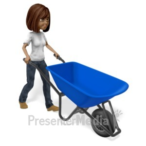 ID# 21547 - Talia Push Wheelbarrow - Presentation Clipart