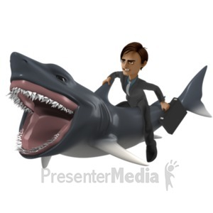 ID# 21652 - Businessman Shark - Presentation Clipart