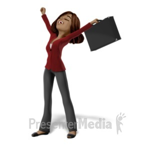 ID# 21653 - Talia Raise Arms Freedom - Presentation Clipart