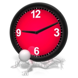 ID# 21654 - Pressure Under The Clock - Presentation Clipart