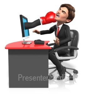 ID# 21672 - Business Punched Through Screen - Presentation Clipart