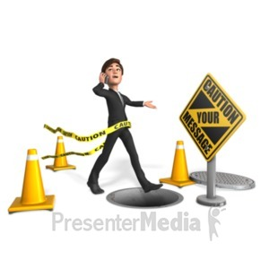 ID# 21686 - Ignore Warnings - Presentation Clipart