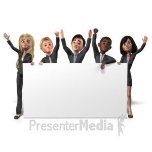 ID# 21720 - Business People Long Sign - Presentation Clipart