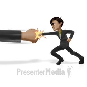 ID# 21735 - Punching Powers That Be - Presentation Clipart