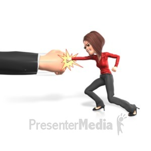 ID# 21745 - Punching The Powers That Be - Presentation Clipart