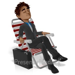 ID# 21753 - Business Vacation Brad Relax - Presentation Clipart