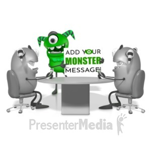 ID# 21796 - Monster Meeting - Presentation Clipart