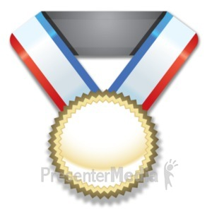 ID# 21837 - Gold Medal Award - Presentation Clipart