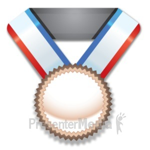 ID# 21839 - Bronze Medal Award - Presentation Clipart
