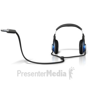 ID# 21919 - Headphone Plug In End - Presentation Clipart