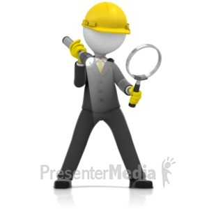 ID# 21996 - Inspector Magnify Glass Search - Presentation Clipart